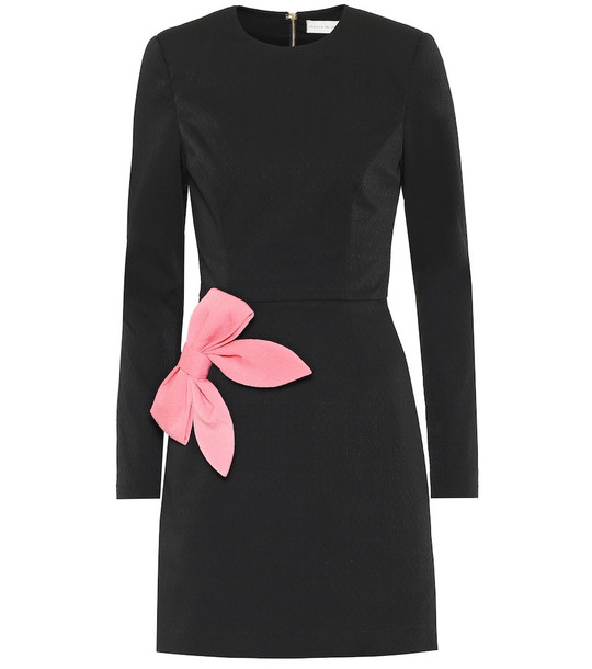 Rebecca Vallance Winslow bow-embellished crêpe dress in black