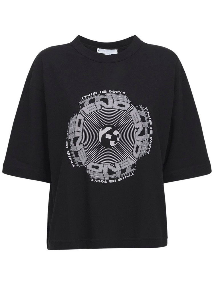 Y-3 Optimistic Cotton Jersey T-shirt in black