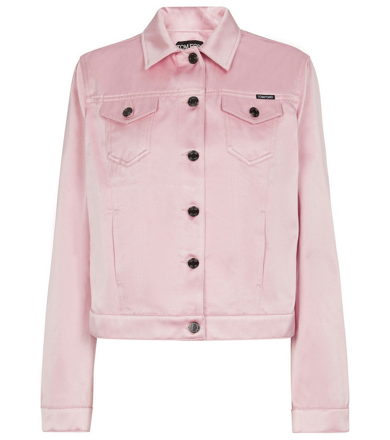 Tom Ford Cotton and silk jacket in pink