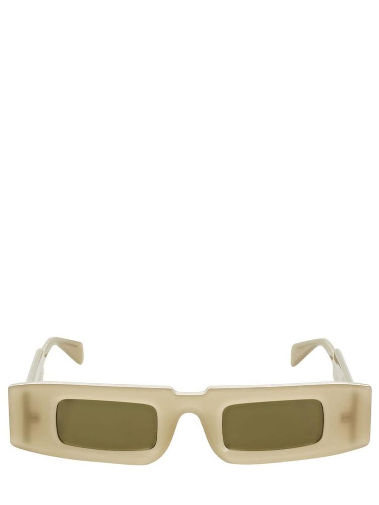 KUBORAUM BERLIN X5 Squared Acetate Sunglasses in beige