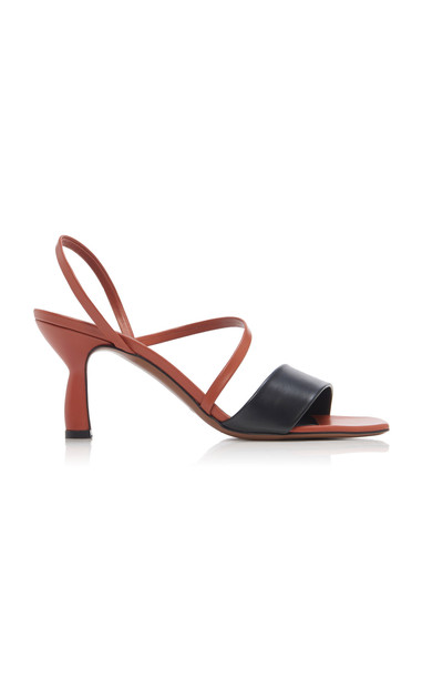 Neous Ecu Two-Tone Leather Sandals in brown