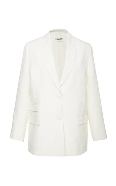 Bouguessa Minimal Blazer in white