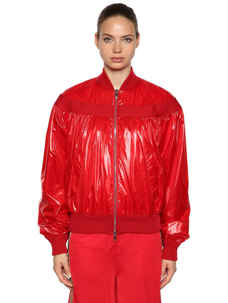 MONCLER GENIUS Nassau Techno Casual Jacket in red