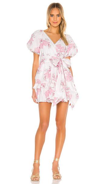 LoveShackFancy Zelle Dress in Pink