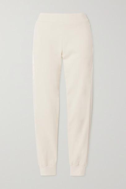 Vaara - Esme Satin-trimmed Organic Cotton-jersey Track Pants - Ivory