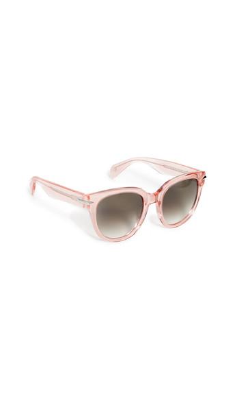 Rag & Bone Classic Acetate Sunglasses in pink