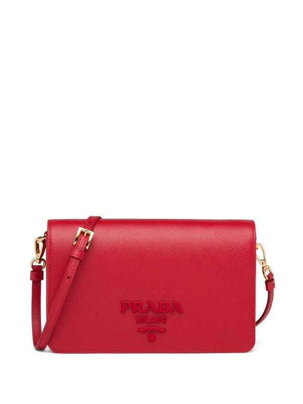 Prada Saffiano leather mini-bag in red