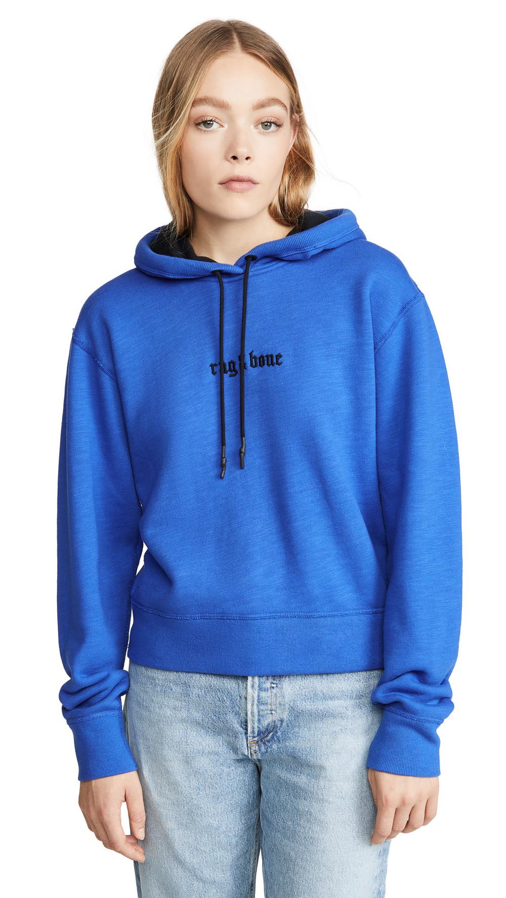 Rag & Bone/JEAN Rib Hoodie in blue