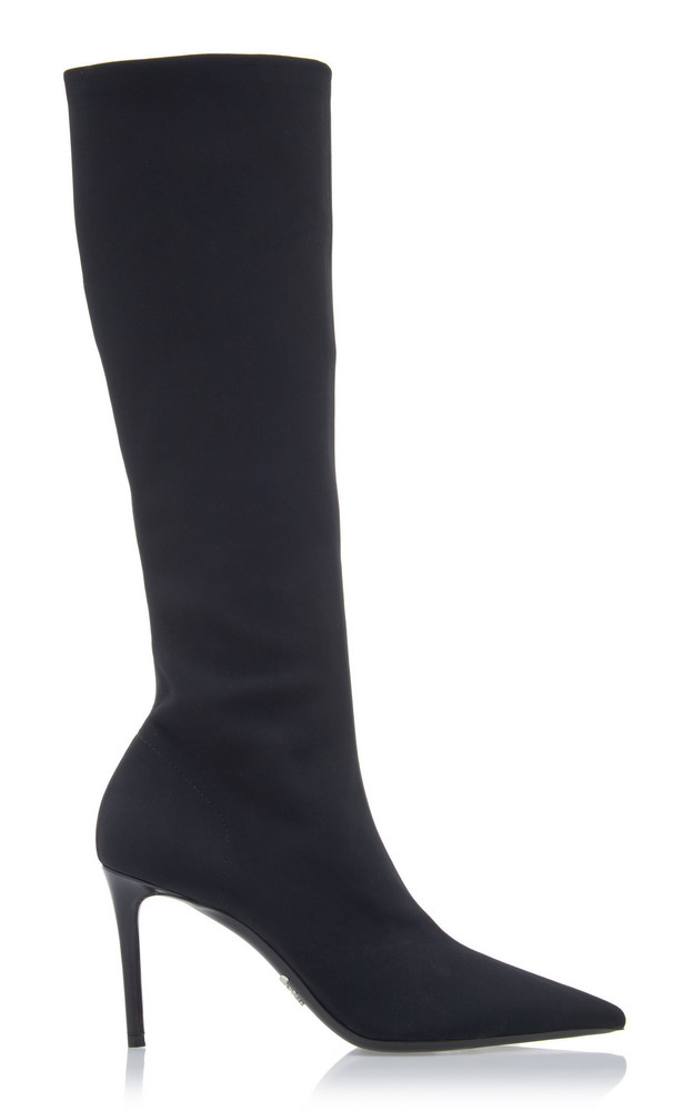 Prada Suede Knee Boots Size: 35 in black