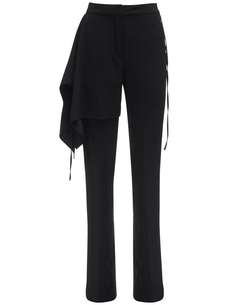 ATLEIN Draped Satin Crepe Tailored Pants in black