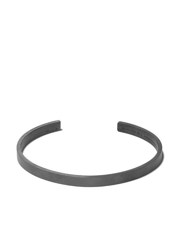 Le Gramme Le 15 Grammes ribbon bracelet in black / silver