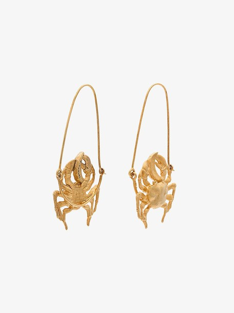 Givenchy gold tone crab earrings