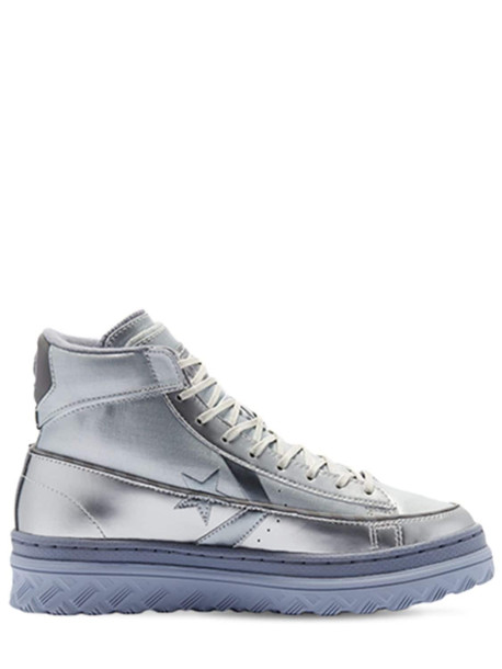 CONVERSE Pro Leather Hacked Sneakers in silver