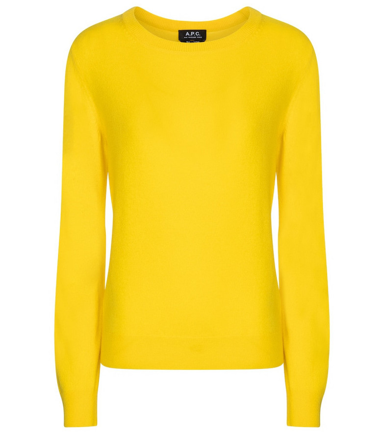 A.P.C. Nola cashmere sweater in yellow