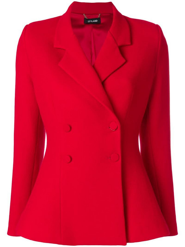 Styland double breasted blazer in red