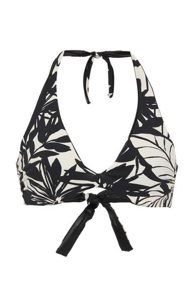 Max Mara Como Floral-Print Bikini Top Size: M in multi