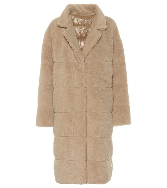 Moncler Bagaud faux-fur coat in beige