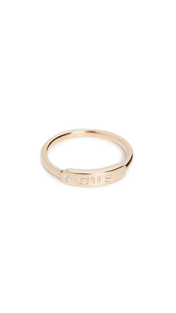 My Story The Twiggy 14k Ring - Mrs in gold / yellow