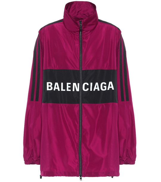 Balenciaga Logo anorak jacket in purple