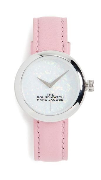 The Marc Jacobs The Round Watch 32mm in white