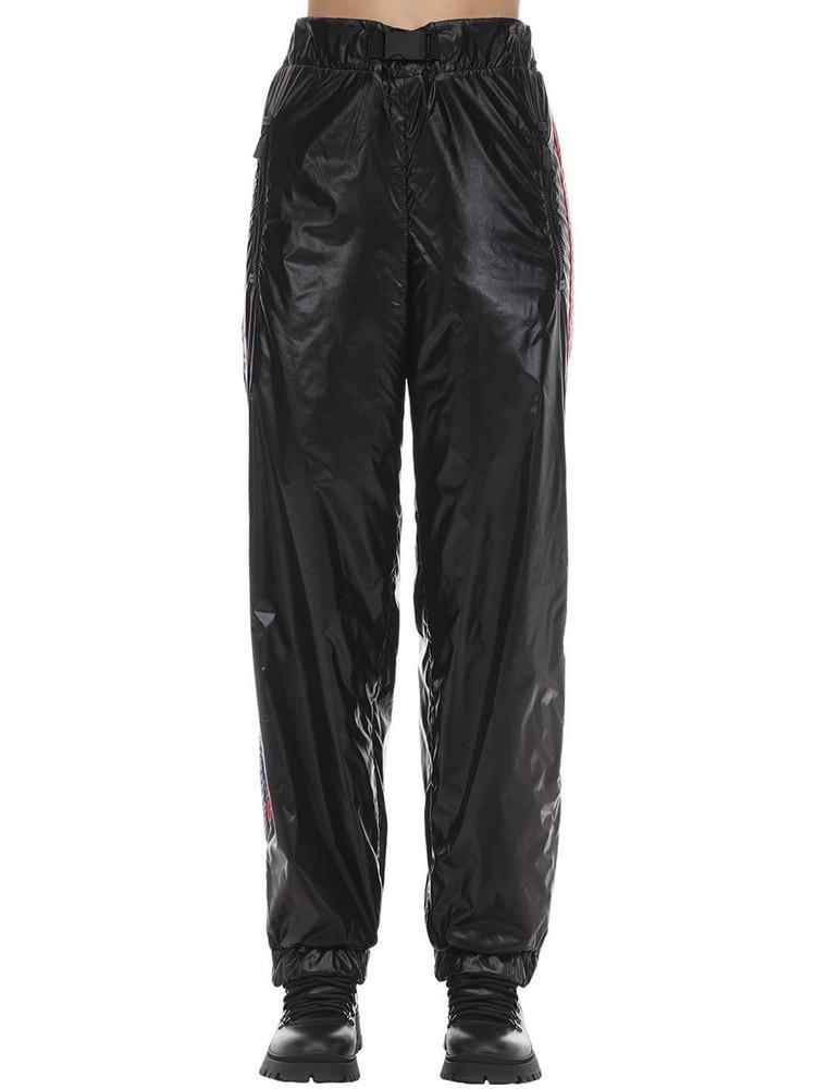 MONCLER GRENOBLE Nylon Laquè Trousers in black