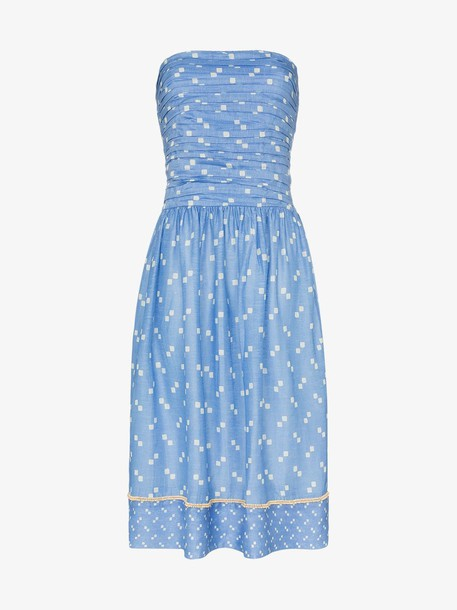 A Peace Treaty Tiza bandeau midi dress in blue