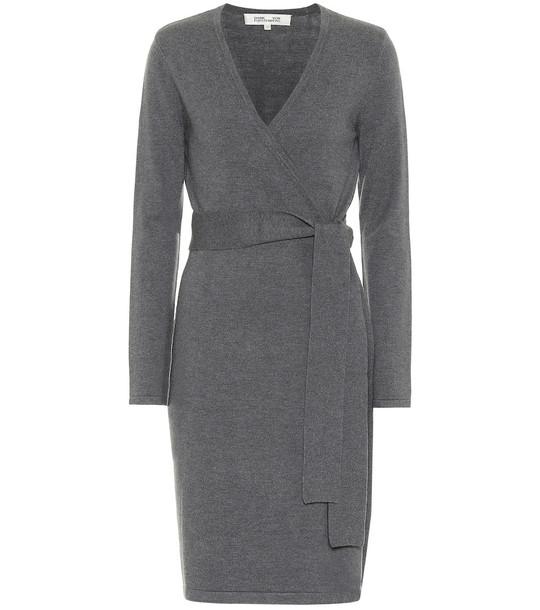 Diane von Furstenberg Astrid wrap dress in grey
