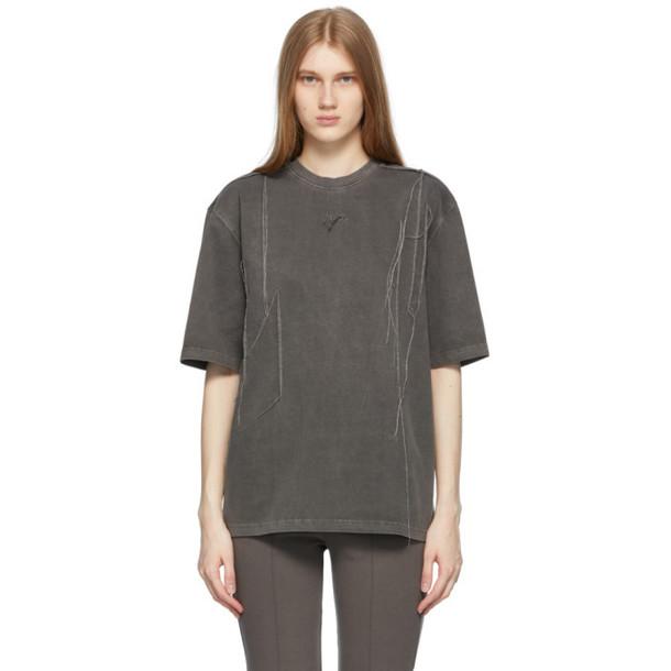 ADER error Grey Needle Logo T-Shirt in charcoal