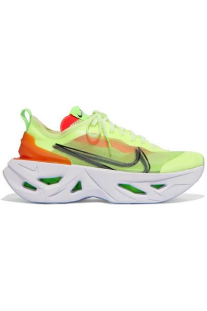 Nike - Zoomx Vista Grind Neon Mesh Sneakers - Green