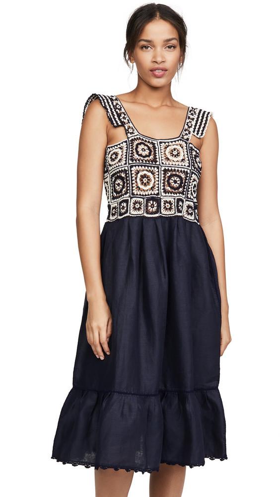 Carolina K Kuna Crochet Dress in blue