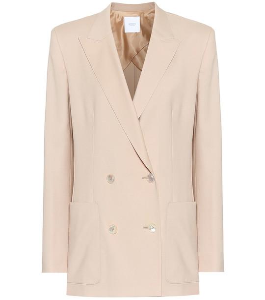 Agnona Wool blazer in beige