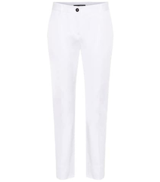 Dolce & Gabbana Cotton-poplin pants in white