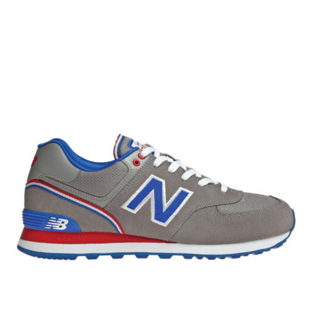 New Balance Stadium Jacket 574 Men's 574 Shoes - Grey, Electric Blue, Red (ML574SGW)