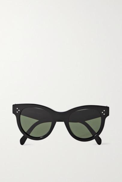 Celine - Round-frame Acetate Sunglasses - Black