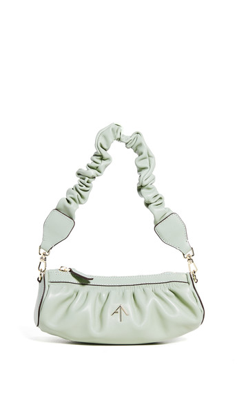 MANU Atelier Ruched Mini Cylinder XX Bag in green