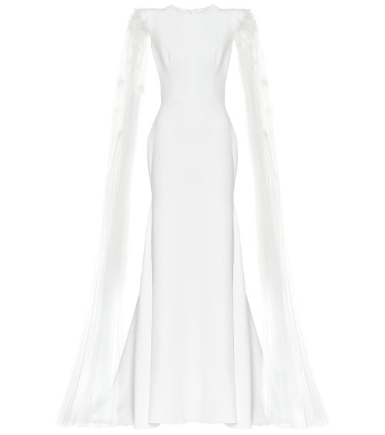 Alex Perry Alessandra satin-crêpe bridal gown in white