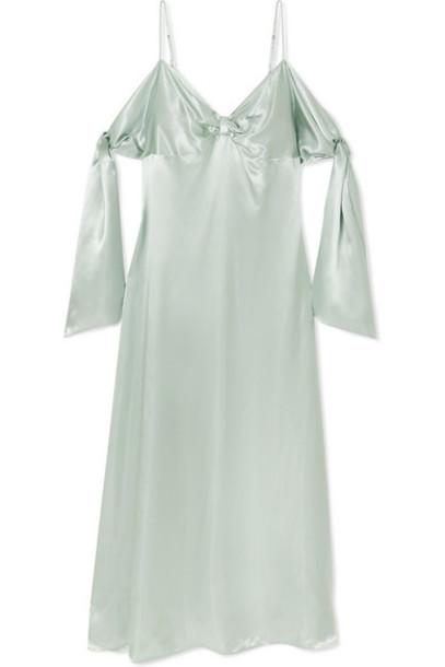 MM6 Maison Margiela - Draped Satin Maxi Dress - Mint