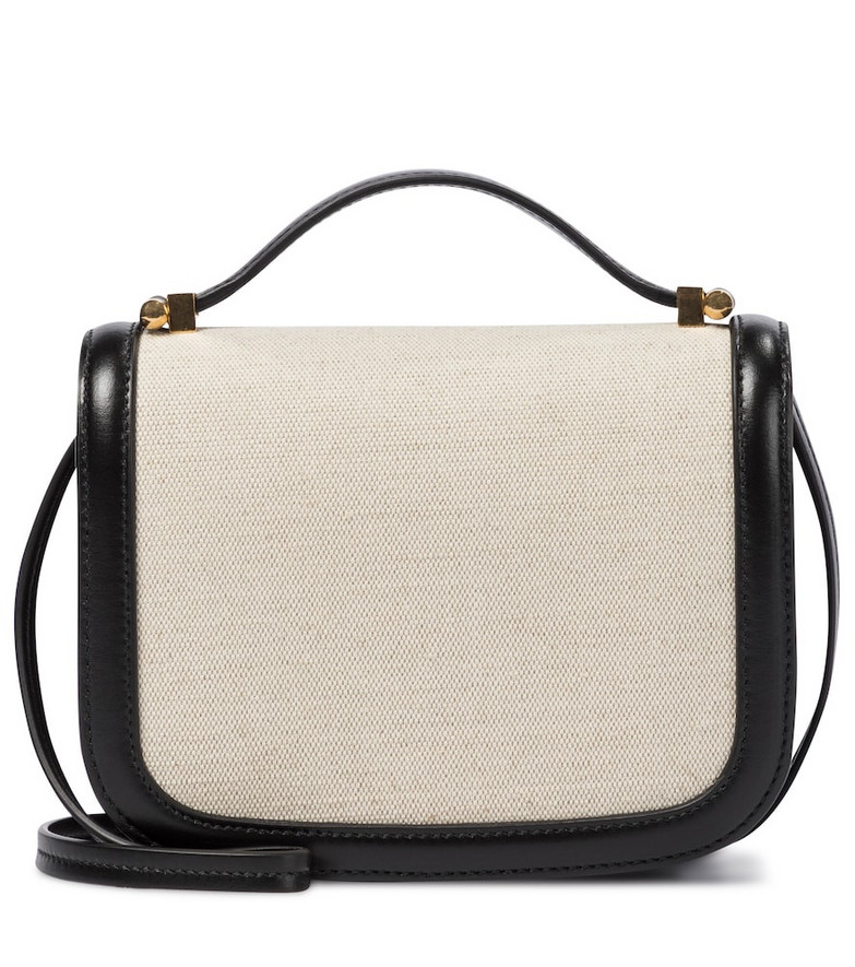 Jil Sander Canvas and leather crossbody bag in beige
