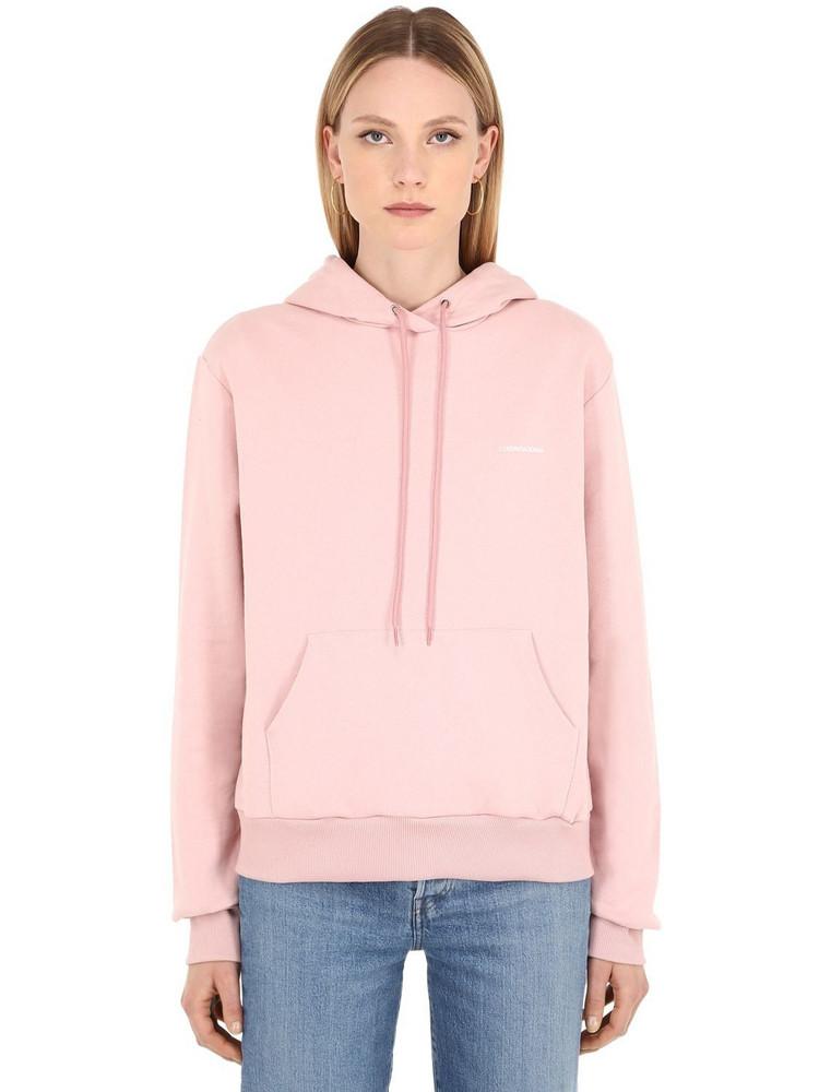 LUISAVIAROMA Spring Logo Cotton Sweatshirt Hoodie in pink