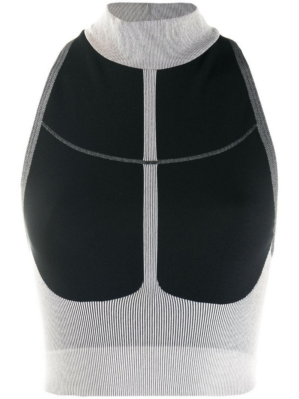 Wolford W-Rib cropped top in black