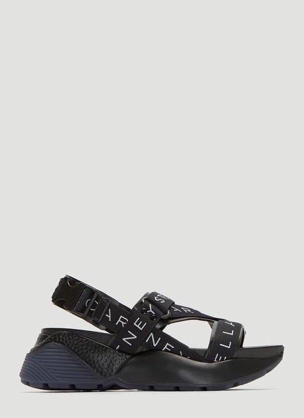 Stella McCartney Eclyspe Logo Sandals in Black size EU - 39