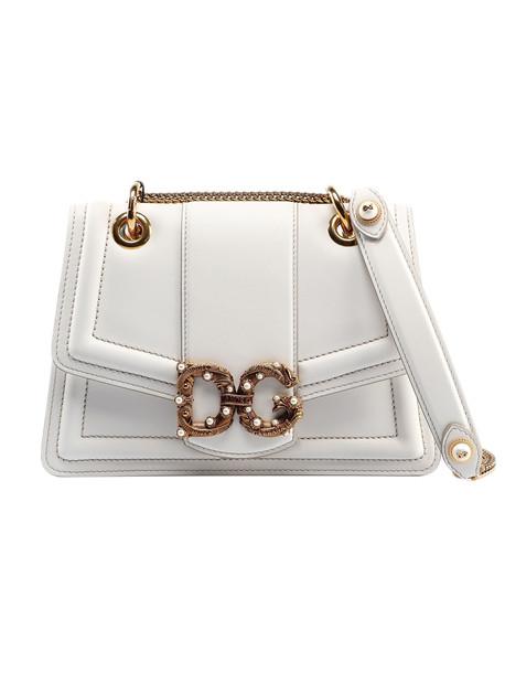 Dolce & Gabbana Calfskin Shoulder Bag in bianco