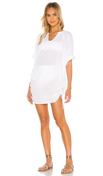 Seafolly Textured Cotton Cover Up in White