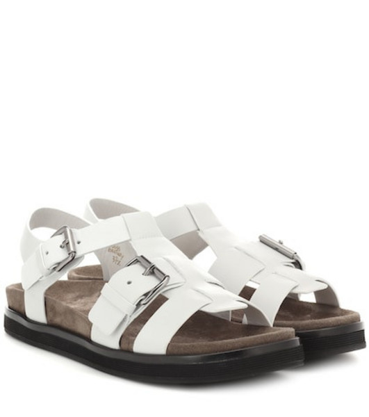 Church's Britney leather sandals in white
