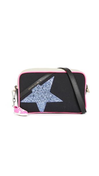 Golden Goose Star Bag in black / purple / white