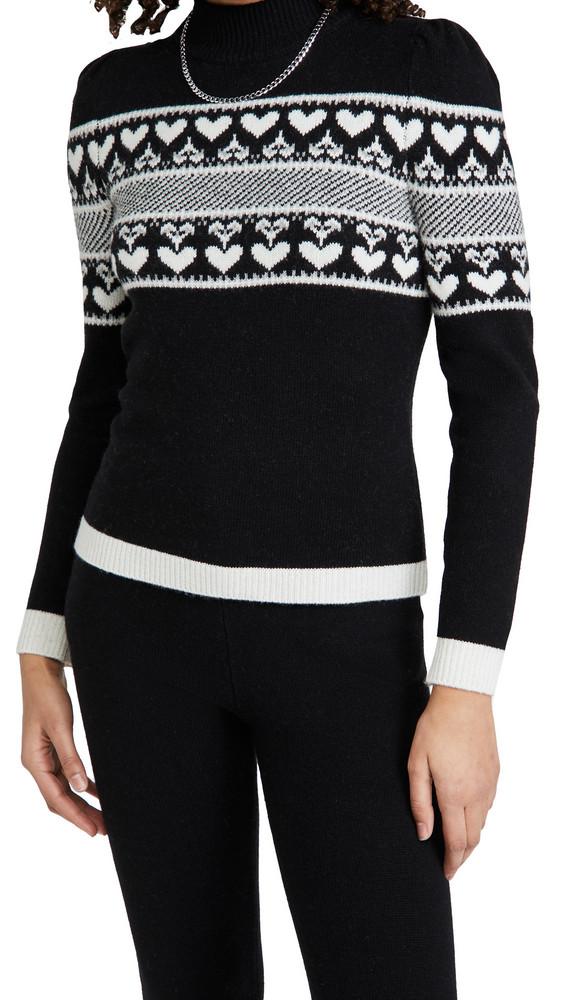 Generation Love Charlie Heart Sweater in black / white