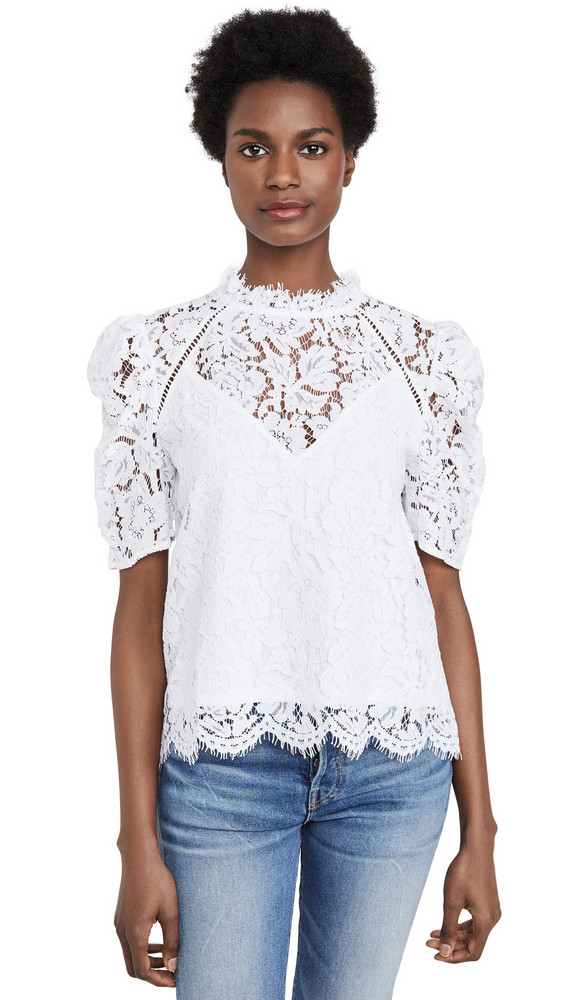 Generation Love Regina Lace Blouse in white