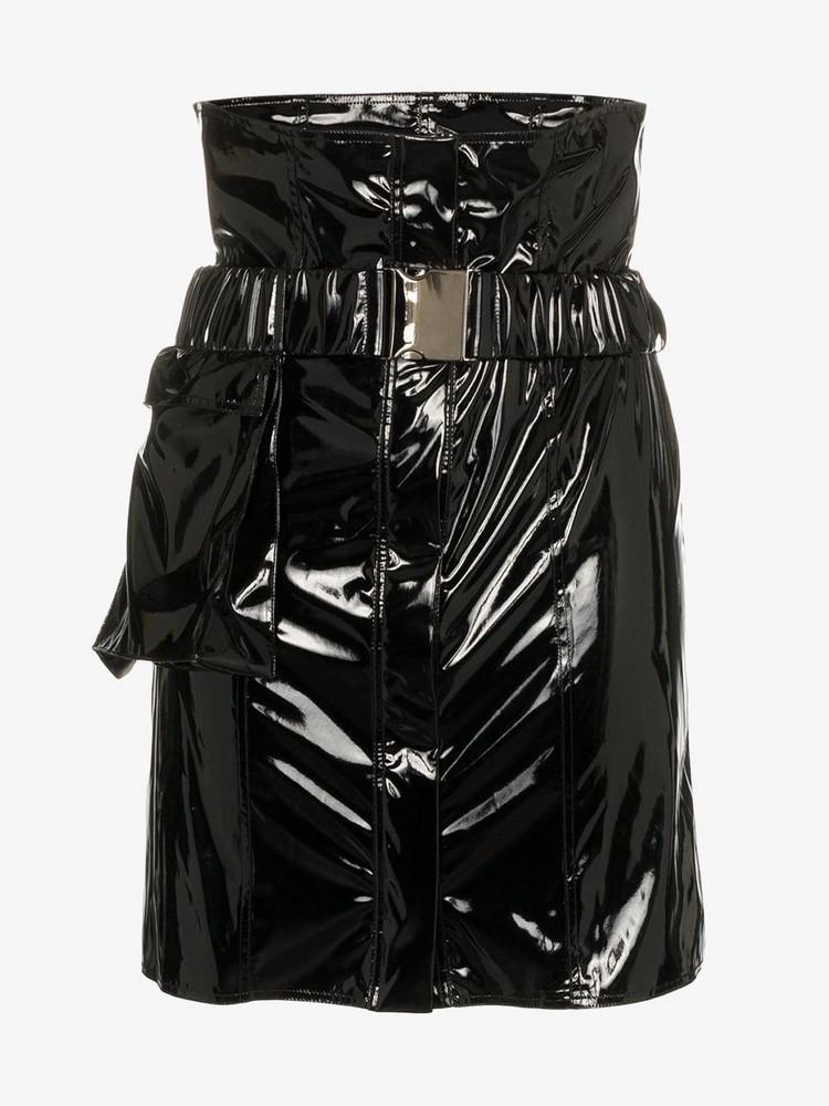 Faith Connexion high-waisted vinyl mini skirt in black