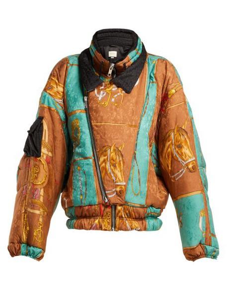 Gucci - Equestrian Print Padded Jacket - Womens - Multi