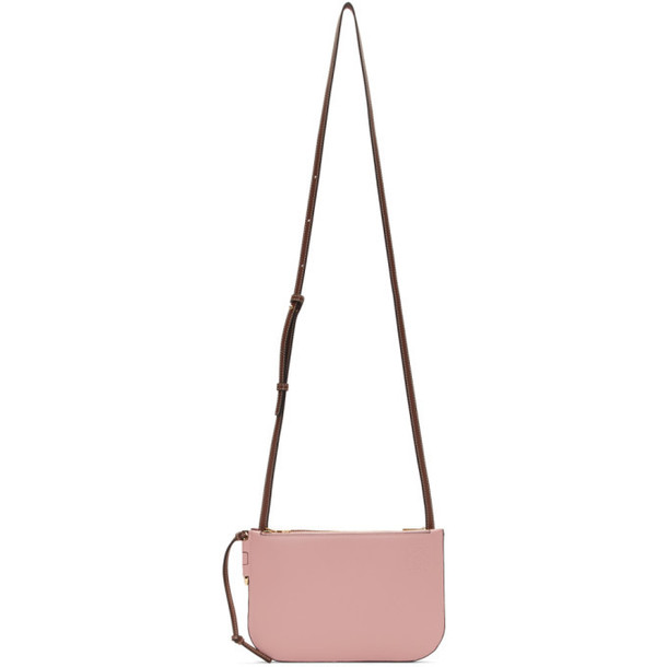 Loewe Pink and Burgundy Gate Pochette Bag